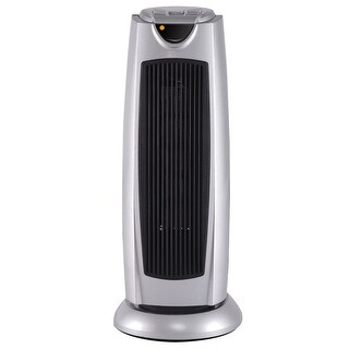Gymax Tower Heater Oscillating Space Heater Electronic Thermostat