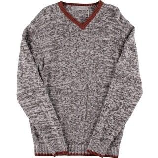Scott James Mens Cashmere Blend Marled V-Neck Sweater - L