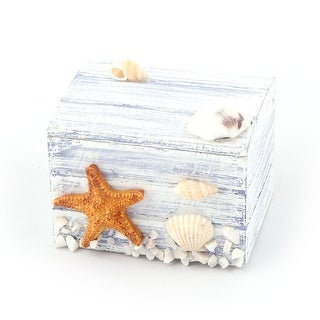 Family Wood Starfish Decoration Jewelry Candy Collection Box Organizer Tricolor