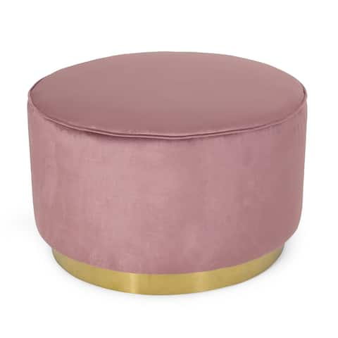 Croton Modern Glam Velvet Swivel Ottoman by Christopher Knight Home