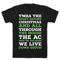 Twas The Night Before Christmas Black Men's Cotton Tee by LookHUMAN