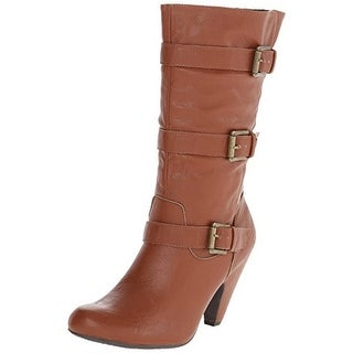 Dolce by Mojo Moxy Womens Natty Mid-Calf Boots Faux Leather Heels
