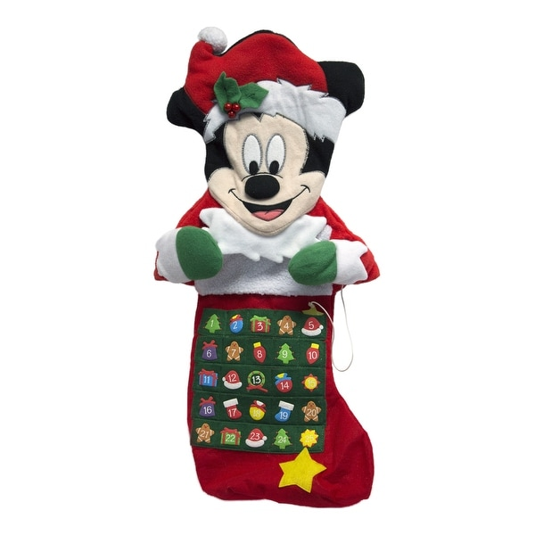 mickey mouse stocking advent calendar - Mickey Mouse Christmas Stocking