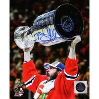 Brent Seabrook Chicago Blackhawks 2015 Stanley Cup Trophy 8x10 Photo