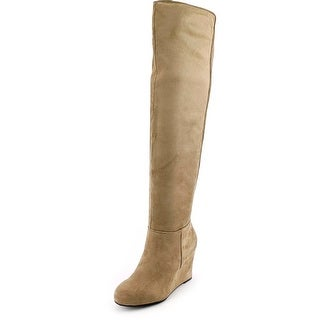 Chinese Laundry Unbelievable Women Round Toe Synthetic Brown Over the Knee Boot