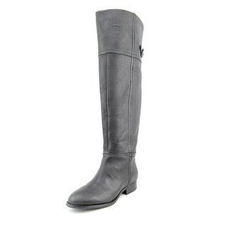 Chinese Laundry Flash Round Toe Leather Over the Knee Boot