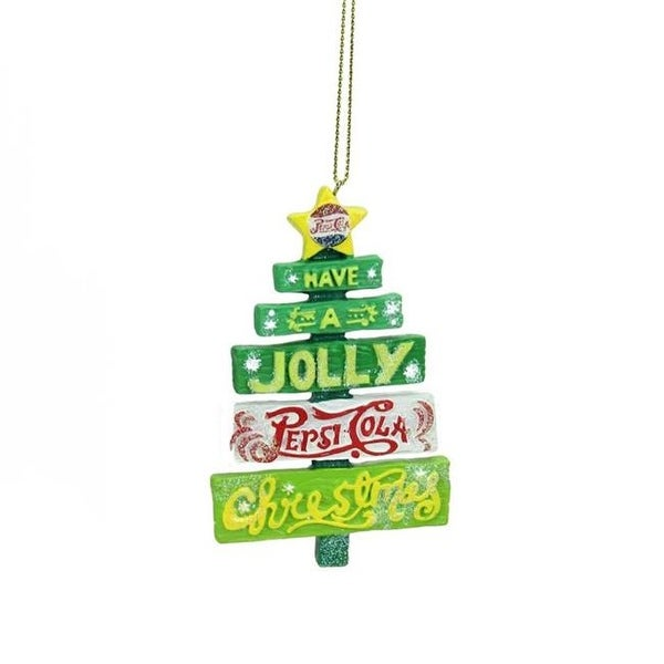 glittered jolly pepsi tree christmas ornament