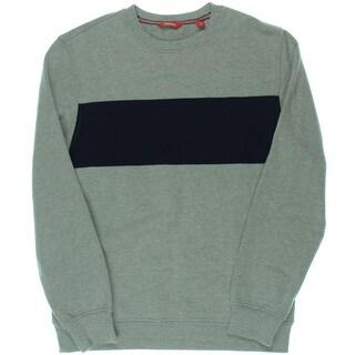 Izod Mens Fleece Lined Colorblock Crew Sweatshirt