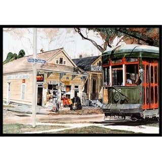 Carolines Treasures 8108JMAT 24 x 36 in.   Orleans Street Car Indoor Or Outdoor Mat
