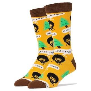 Bob Ross Happy Tree Men's Crew Socks|https://ak1.ostkcdn.com/images/products/is/images/direct/7135393846672c11412742e2b8b6746542234ebc/Bob-Ross-Happy-Tree-Men%27s-Crew-Socks.jpg?impolicy=medium