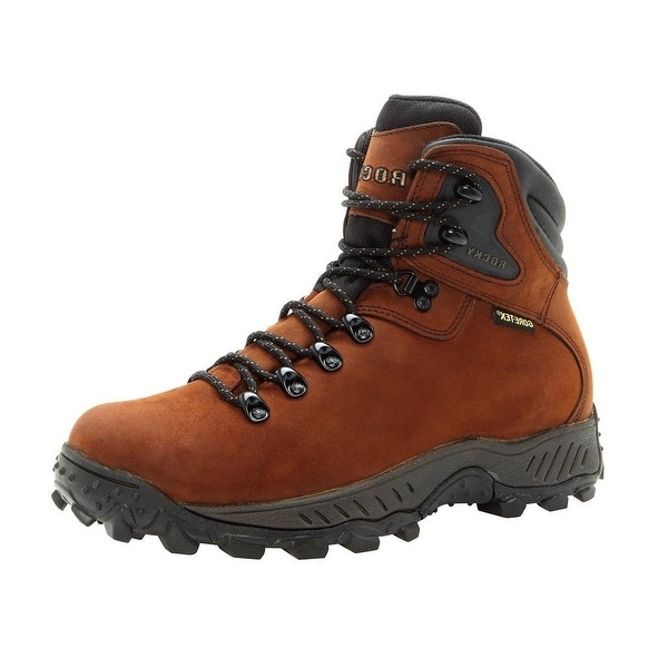 Rocky Outdoor Boots Mens Ridgetop WP Leather Hiker Brown