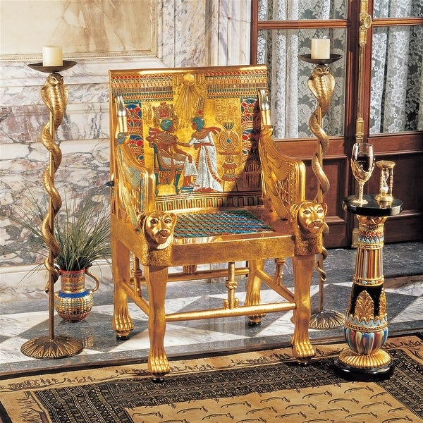 Design Toscano King Tutankhamen's Egyptian Throne Chair