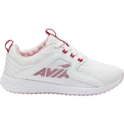 Avia Girls' Avi-Ryder Sneaker White/Jazzy/Ballerina