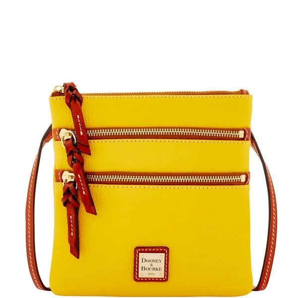 Dooney & Bourke Pebble Grain Triple Zip (Introduced by Dooney & Bourke at $138 in Jan 2016) - Sunset