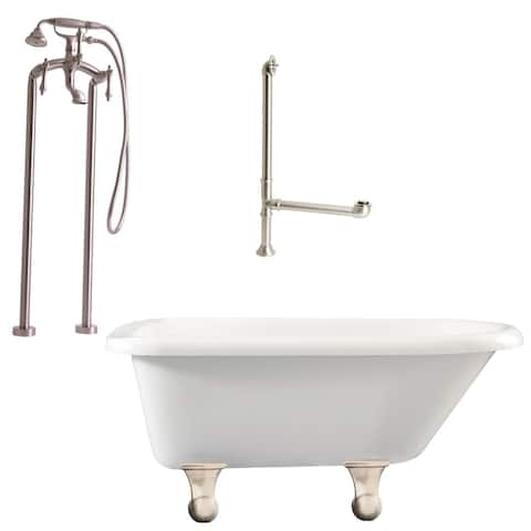 "Giagni LB2 Brighton 60"" Free Standing Soaking Tub Package -"