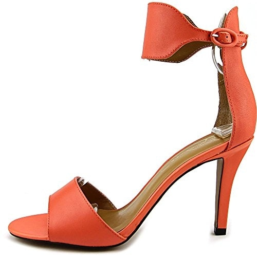 Report Signature Womens GLIMMER Leather Open Toe Special Occasion Ankle Strap...