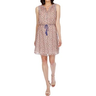 Lucky Brand Womens Casual Dress Printed Drawstring - m