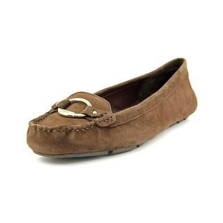 Lauren Ralph Lauren Cadance Women Apron Toe Suede Brown Loafer