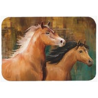 Carolines Treasures PTW2021LCB Horse Duo Glass Cutting Board, Large