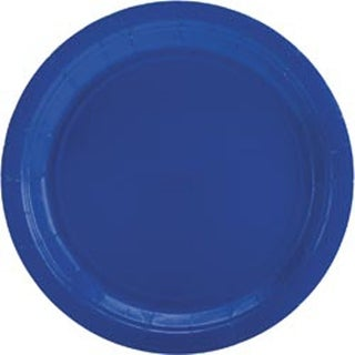"Bright Royal Blue - Big Party Pack Luncheon Plates 7"" 50/Pkg"