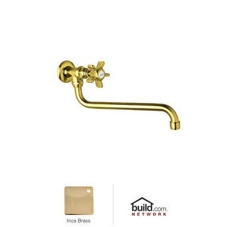 Rohl A1445X-2 Country Kitchen Wall Mounted Pot Filler Faucet with Five Spoke Met