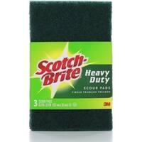 Scotch-Brite Heavy Duty Scour Pads 3 Each
