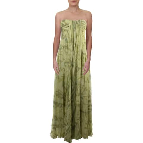Halston Heritage Womens Evening Dress Silk Formal