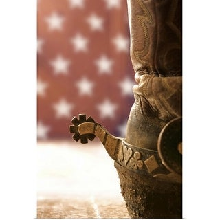 """""""Boot and spur"""" Poster Print"""
