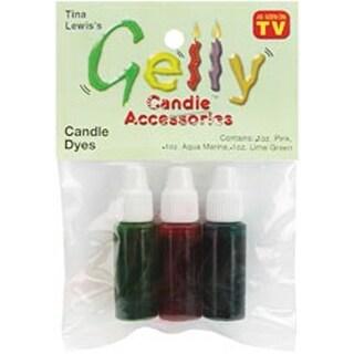 Pink; Aqua & Lime - Gelly Candle Dye Assortment .1Oz 3/Pkg