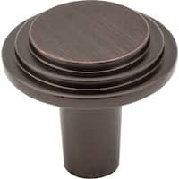 "Elements 331  Calloway 1-1/8"" Diameter Mushroom Cabinet Knob"