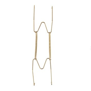 Link to Metal 9 to 11.4 Inch Spring Plate Hangers Wall Rack Hook Stand Display - Gold Tone Similar Items in Kitchen Storage