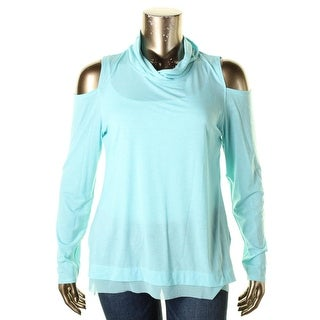Nanette Lepore Womens Pullover Top Cold Shoulder Long Sleeves