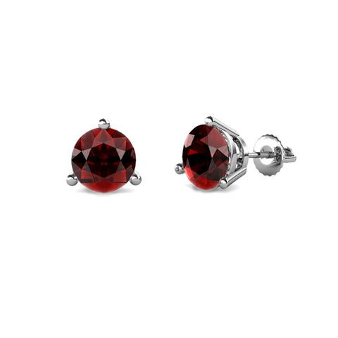 TriJewels Gemstone 3 Prong Solitaire Womens Stud Earrings Gold