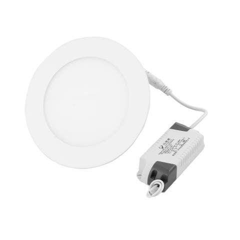Warm White 9W Round Hotel Dimmable LED Recessed Ceiling Panel Light AC85-265V