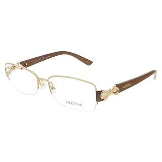 Valentino V2106 002 Gold/Chocolate Brown Rectangular Valentino Eyewear