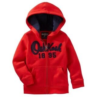 OshKosh B'gosh Baby Boys' Logo Fleece Hoodie, Red