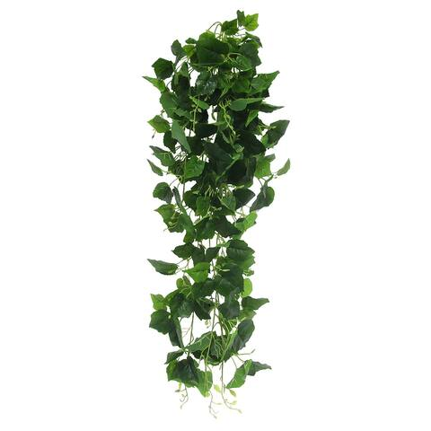 "Grape Leaf Ivy Hanging Greenery Bush UV Resistant Indoor Outdoor 49in - 49"" L x 15"" W x 9"" DP"