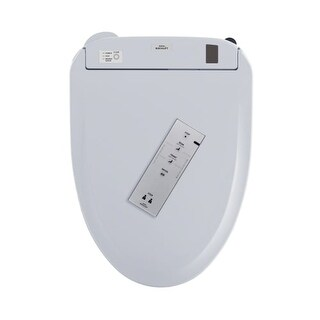 Toto SW584T20 Elongated Closed Front Toilet Seat with Connect+ Lid, Washlet? and eWater+