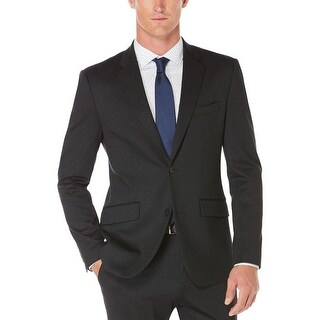 Perry Ellis Mens Two-Button Suit Jacket Heather Single Vent