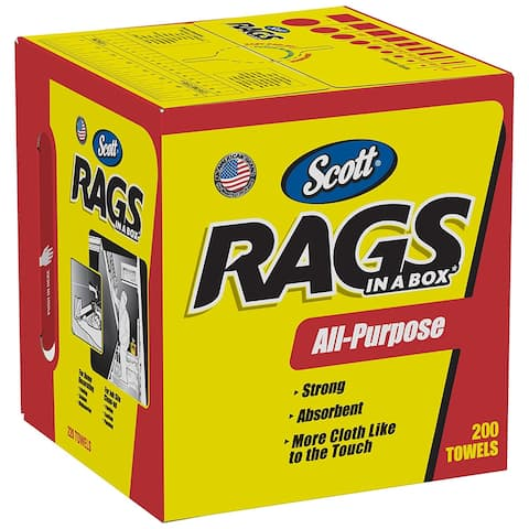 Scott 75260 Rags In-A-Box, White, 200-Pack