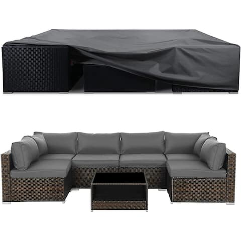 Heavy Duty Outdoor Patio Furniture Cover, Waterproof Patio Set Cover - 98x98x28