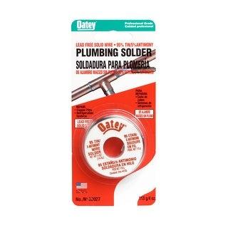 Oatey 53027 95/5 Lead Free Plumbing Wire Solder 1/4 lbs, Silver