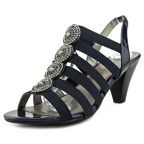 Karen Scott Nikhita Women Open Toe Canvas Blue Sandals
