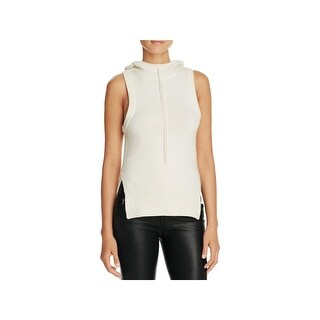 DKNY Womens Hooded Sweater Cashmere Sleeveless