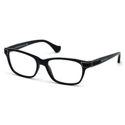 Balenciaga Mens Black Rectangle Plastic Eyewear Frame BA5006 1