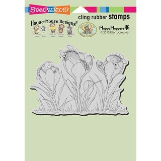 """Stampendous House Mouse Cling Stamp 6.5""""X4.5""""-Crocus Nap"""