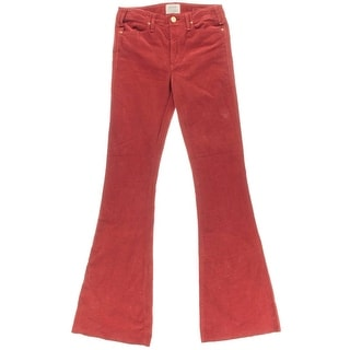 McGuire Denim Womens Flare Flat Front Corduroy Pants