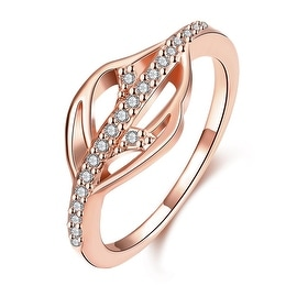 Single Crytal Rose Gold Infused Ring