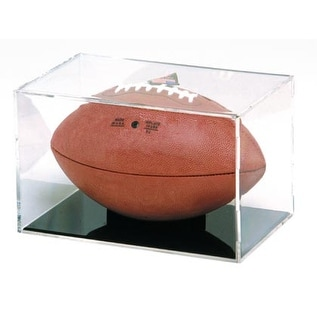 "BallQube Football Display Case/Holder - ""Grand Stand"""