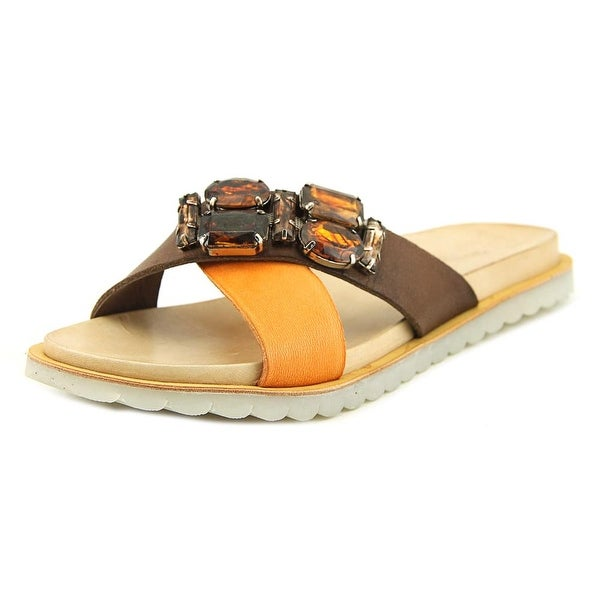 Charles David Pella Women Open Toe Leather Brown Sandals